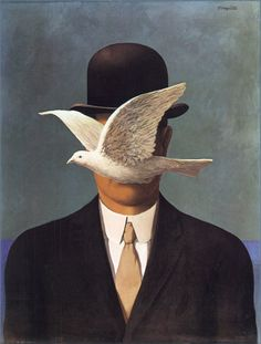 Rene Magritte - The Man in a Bowler Hat