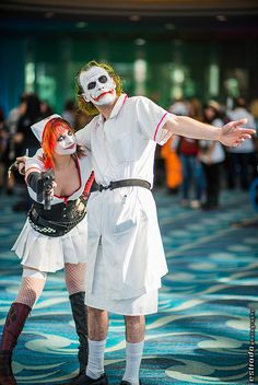 Harley Quinn and Joker #cosplay | Long Beach Comic & Horror Con 2013