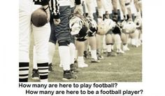 Why Do They Play? How many of the kids on any youth football team want to play football vs. want to be known as a football player? This month's article at USA Football -- http://usafootball.com/blogs/americas-game/post/7492