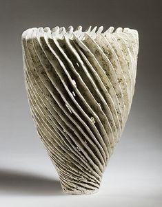 barbro aberg White Spiral Vase   34x25x25 cm   2006