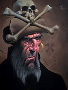 Love this pirate painting