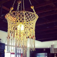 Macrame chandelier Lonsdale Street Roasters Canberra