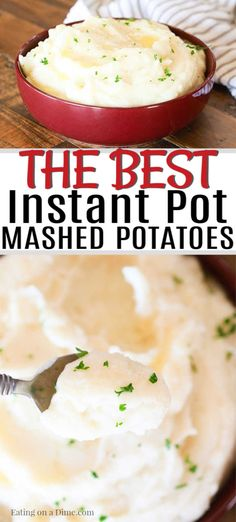 Pressure Cooker Mashed Potatoes - Easy Instant Pot Mashed Potatoes Looking for electric pressure cooker recipes? This instant pot mashed potatoes recipe is the best. Pressure cooker mashed potatoes is the only way to go. Instant Pot Mashed Potatoes Recipe, Easy Mashed Potatoes, Mashed Potato Recipes, Russet Potatoes, Cheesy Potatoes, Baked Potatoes, Pressure Cooker Mashed Potatoes, Brunch, Cooking Recipes