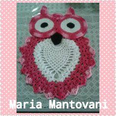 Crochetando com Maria Mantovani: Trilho de corujinha em S