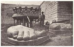 assembling the statue of liberty | on liberty island 1885 face of statue of liberty uncrated on liberty ...