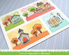 """Make fun, peekaboo cards with this backdrop die. Use the optional """"lift the flap"""" doors to add a little surprise! Lawn Cuts custom craft dies are high-quality s"""