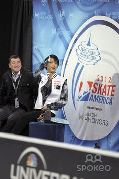 Yuzuru Hanyu (JPN) competes in the mens short program in the 2012 Hilton HHonores Skate America competition at the ShoWare Center.