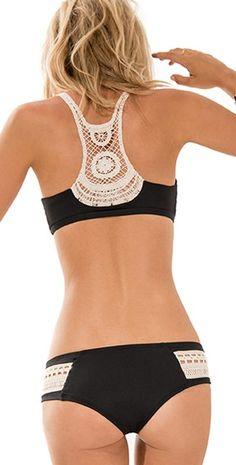 L Space 2014 L*Novelties Black Wild Child Bikini | South Beach Swimsuits