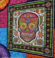 Handmade quilt | Skull-tastic! | Pinterest : sugar skull quilt pattern - Adamdwight.com