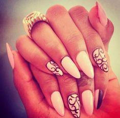 White Stiletto Nails | white and hybrid stiletto nails