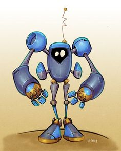 by Kravenous on deviantART Robot Illustration, Character Illustration, Illustrations, Arte Robot, Robot Art, Robots Drawing, Character Art, Character Design, Steampunk Robots