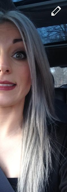 Blue/silver hair