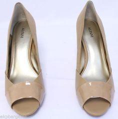 New-With-Flaws-Alfani-Bette-Women-Pump-Heels-Brown-Shoe-Beige-Open-Toe-10M-W506