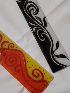 Melting Glass, Glass Fusing Projects, Glass Panels, Fused Glass, Tribal Tattoos, Glass Art, Diy Crafts, Abstract, Handmade