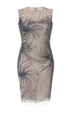 Starburst Beaded Sleeveless Sheath Dress by Blumarine for Preorder on Moda Operandi