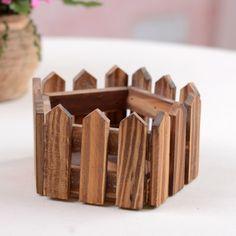 Небольшой деревянный корзина цветочный горшок цветочный забор деревянный ящик плантаторы 0.125kg домой для украшения сада и бесплатной доставкой 9.06