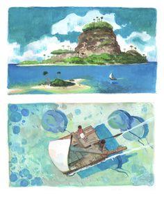 Fantasy Art Landscapes, Fantasy Landscape, Art Environnemental, Concept Art World, Fantasy Island, Building Art, Art Et Illustration, Traditional Paintings, Environment Design