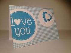 I LOVE YOU card, love this colors :)