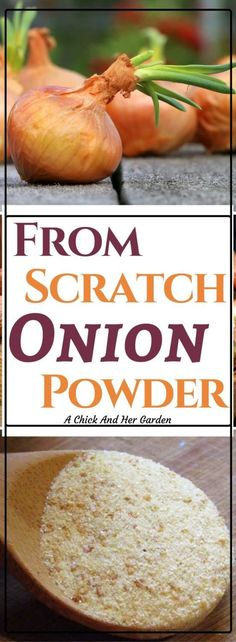 Out of onion powder? What should you do with sprouting onions? Make your own onion powder!