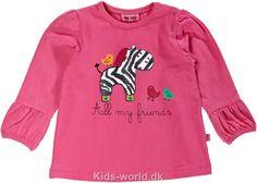 Me Too Bluse - Pink m. Zebra - Børnetøj med fri fragt.