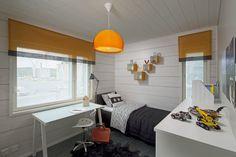 Boy's room. Honka Harmonia. Finland, Building A House, Orange, Boys, Modern, Baby Boys, Trendy Tree, Build House, Senior Boys