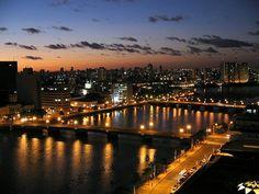 Recife. À noite. Estado de Pernambuco, Brasil.