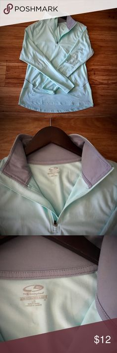 Women's Run 1/2 Zip Pullover - C9 Champion Women's Run 1/2 Zip Pullover - C9 Champion, Large, mint green & gray. In used but good condition. Champion Tops Sweatshirts & Hoodies