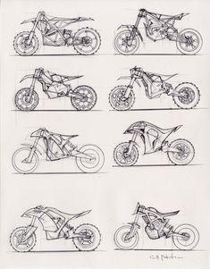 Futuristic Motorcycle, Motorcycle Art, Motorcycle Design, Bike Design, Scrambler Motorcycle, Motorized Big Wheel, Scott Robertson, Preppy Car, Bike Drawing