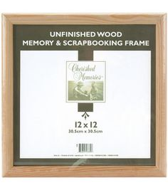 Memory Frame 12''X12''-Unfinished: shadow boxes & collectibles: framing: home decor: Shop | Joann.com