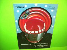 Zaccaria DEVIL RIDERS Original 1984 Flipper Game Pinball Machine Flyer Italy  #Zaccaria #Pinball #PinballFlyer @PinballMachineFlyers