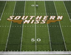 Today marks 50 Days until Kickoff in The Rock! For today's photo we feature the 50 yard line from our new turf. #RiseToTheTop