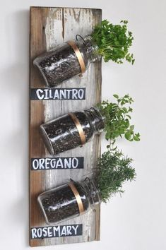 Mason Jar DIY Kräutergarten  #diy #masonjar
