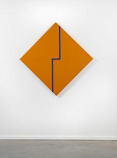 Carmen Herrera | Blue Angle on Orange, 1982-83 | Lisson Gallery