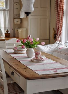 Shabby Chic Bohemian Interiors - Sweet Home And Garden Style Cottage, Cozy Cottage, Red Cottage, Shabby Cottage, Country Farmhouse, Country Decor, French Country, Kitchen Country, Country Interior