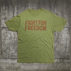 T-Shirt Fight For Freedom, 35€, now featured on Fab.