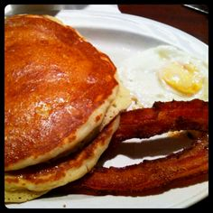 Short stack, bacon and eggs @ DuPar's in Golden Gate Casino - Las Vegas