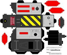 Ghostbusters Trap Papercraft by ~CyberDrone on deviantART - free template!