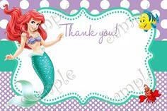 Birthday Party Supplies By Papel Pintado Little Mermaid InvitationsLittle