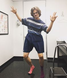 if you don't want me dancing in your exam room don't give me awesome disposable shorts made of paper
