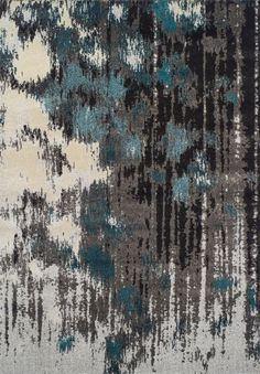 Modern Greys MG81 Teal Rug