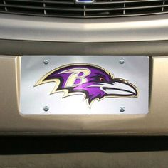 Baltimore Ravens Zebra Acrylic Cut License Plate