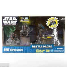 Star Wars The Clone Wars Rishi Outpost Attack Battle Packs Hasbro figures MIMB #Hasbro