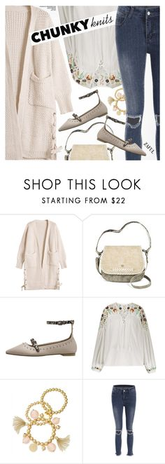 """""""Get Cozy: Chunky Knits"""" by pokadoll ❤ liked on Polyvore featuring Mac + Jac and INC International Concepts"""