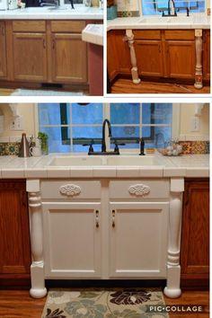 Used Kitchen Cabinets Craigslist Lakeland Fl - DIY-kitchen-cabinet-ideas Farmhouse Kitchen Cabinets, Painting Kitchen Cabinets, Kitchen Redo, New Kitchen, Kitchen Remodel, Kitchen Ideas, Making Kitchen Cabinets Look Like Furniture, Updating Kitchen Cabinets, Refurbished Kitchen Cabinets