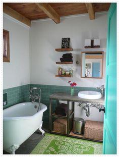 charming, eclectic bathroom