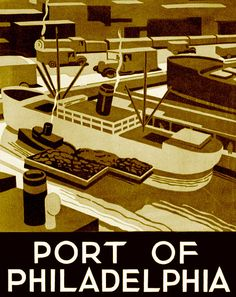 Port of Philadephia, WPA poster