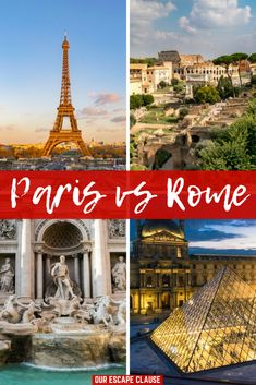 Paris vs Rome: everything you need to do to decide which iconic city is right for you! #paris #rome #france #italy #europe #travel #trip #traveling