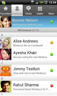 android os, nimbuzz login, instant messag, enabl instant, version 23