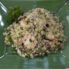 Quinoa is the healthy wonder grain we can't get enough of-- we even eat it for breakfast! Learn how to cook quinoa with over 360 recipes complete with nutrition information. Shrimp And Quinoa, Heart Healthy Recipes, Healthy Foods, Shrimp Dishes, How To Cook Quinoa, Learn To Cook, Vegetable Recipes, Potato Salad, Main Dishes