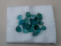 Blue Apatite crystal rough gem mix parcel over by pinnaclediamonds